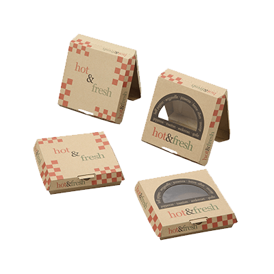 Custom F-flute Pizza Window Boxes 3