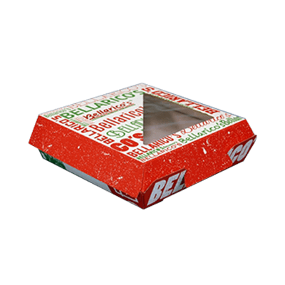 Custom F-flute Pizza Window Boxes 2