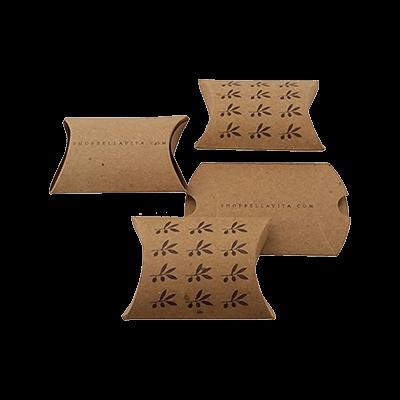 Custom Kraft Paper Pillow Boxes 1