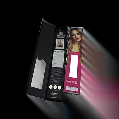 Custom Window Hair Extension Boxes 3