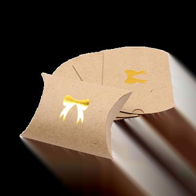 Custom Kraft Paper Gift Pillow Boxes 4