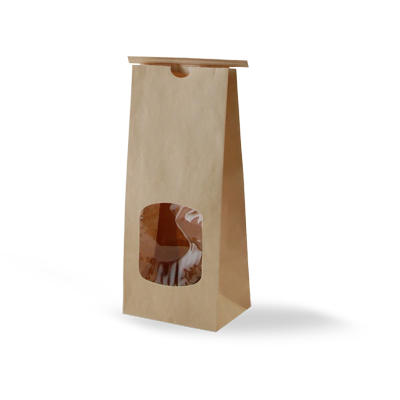 Custom Kraft Window Packaging Bags 3